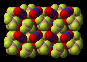 Nitronium tetrafluoroborate - Image: Nitronium tetrafluoroborate xtal 3D SF