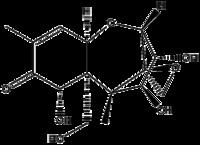 Strukturformel von Nivalenol