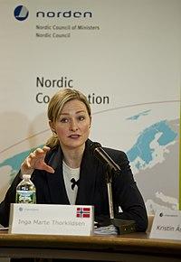Norges ligestillingsminister Inga Marte Thorkildsen under FN's Kvindekommissions samling (CSW) 2013 (1).jpg