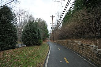 Bethesda Trolley Trail - The trail at Montgomery Dr