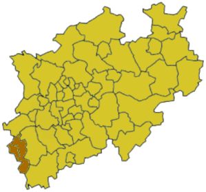 Aachen (district) - Image: North rhine w staedteregion aachen