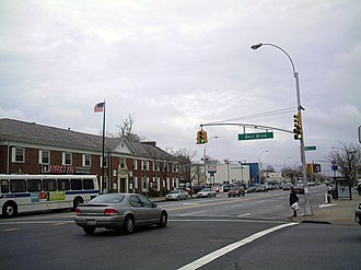 New York State Route 25A - Junction of Northern (NY 25A) and Bell boulevards in Bayside