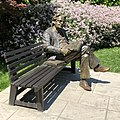Northrop Frye sitting on a bench at the University of Toronto.jpg