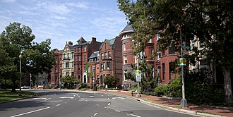 Major General John A. Logan - Row houses on the northwest corner of Logan Circle