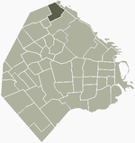 Location of Núñez within Buenos Aires