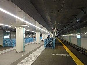 Higashi-Kitazawa Station - Platform level, April 2013