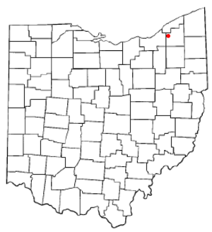 Chesterland, Ohio - Image: OH Map doton Chesterland