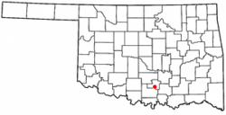 Location of Dougherty, Oklahoma