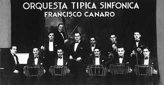Francisco Canaro - Canaro and his orchestra, c.1930.