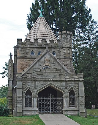 Pontiac, Michigan - Buckland Memorial Chapel at Oak Hill Cemetery