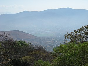 English: View of the Valley of Oaxaca from Mon...