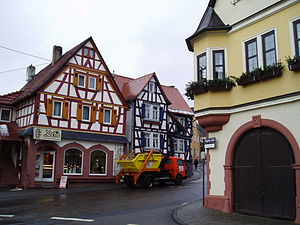Niedernhausen - Timber-frame houses in the outlying centre of Oberjosbach