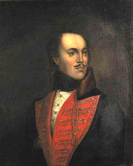 Polish Count Kazimierz Pulaski was awarded with the honorary distinction of citizen 230 years after he fought and died in the Revolutionary War. Obraz Pulaski.JPG