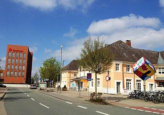 Oelde - On the right: Oelde railway station