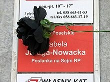 Office of Izabela Jaruga-Nowacka after president's plane crash 2010 - 04.jpg