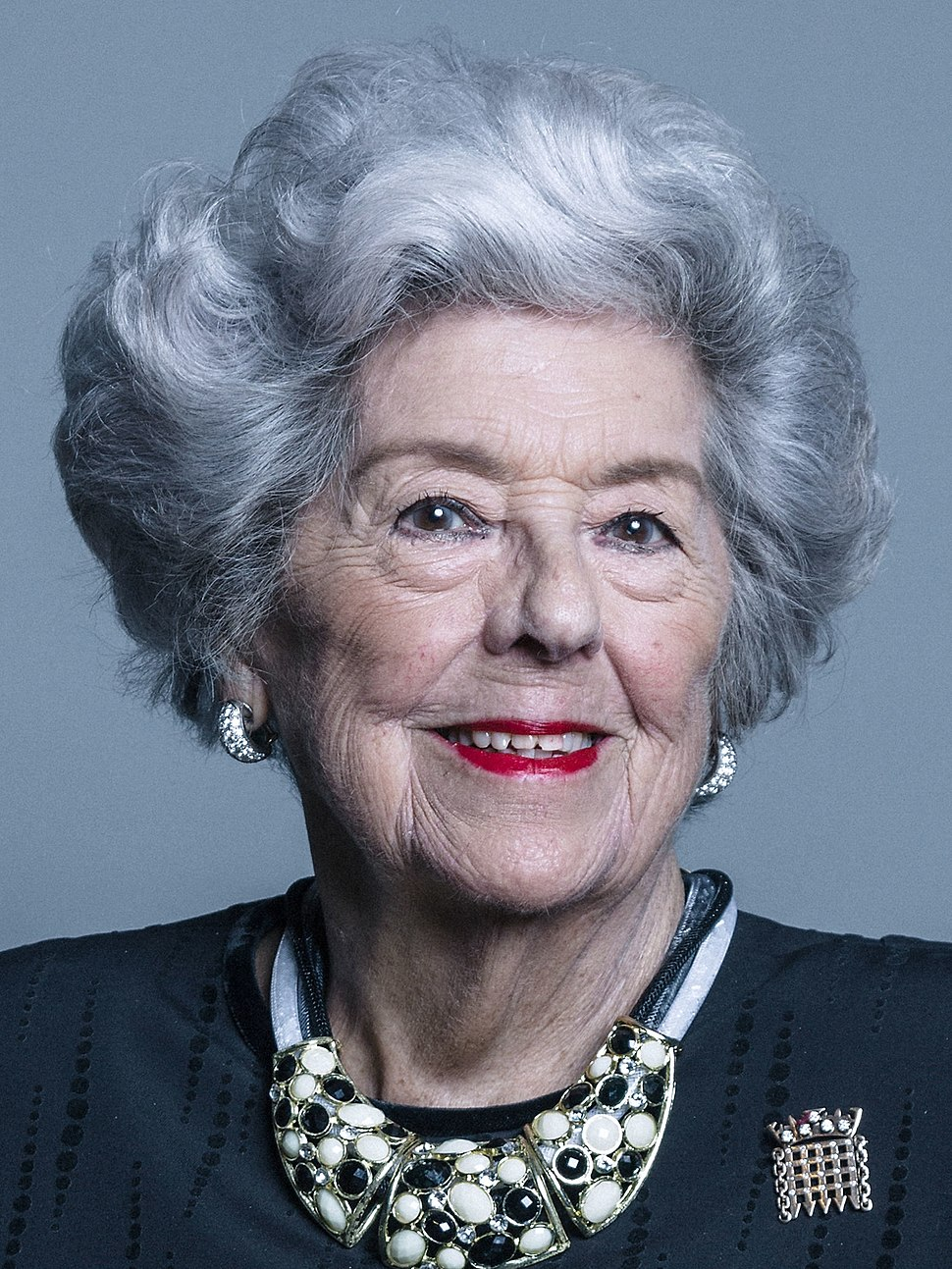 Official portrait of Baroness Boothroyd crop 2