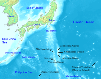 Map of the Ogasawara Islands in black labels Ogasawara islands.png