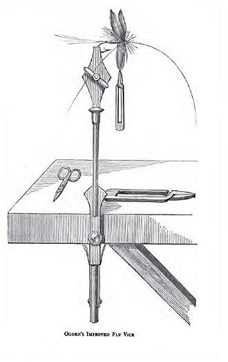 Fly tying - Ogden's improved fly vise (1887)