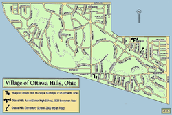 Street-level map of Ottawa Hills