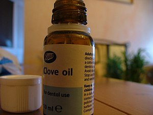 English: Oil of cloves can be purchased over t...