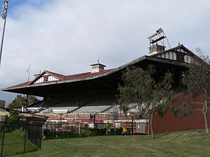 Sydney Swans - All that remains of the Swans' old Lake Oval ground, a single grandstand built in 1926 which for many years stood in a state of disrepair