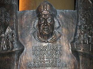 Heinrich II of Virneburg Count of Virneburg, German bishop, Archbishop of Cologne