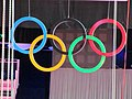 Olympic rings at the North Greenwich Arena (7738531692).jpg