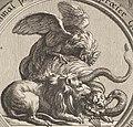 Omne animal post Coitum triste praeter Gallum. Leur imprudence présomption orgueil et tyrannie sont humiliés (cropped).jpg
