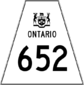 Highway 652 shield