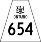 Highway 654 shield
