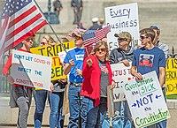 Protestujący w Ohio, 18 kwietnia
