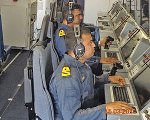 Andaman and Nicobar Command - Operators on Navy's Boeing P-8I search for Malaysia Airlines Flight 370.