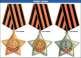 Статус полный кавалер ордена славы