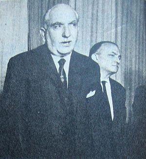 Argentine general election, 1963 - Image: Oscar Alende y Celestino Gelsi 1965