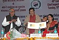Oscar Fernandes releasing the Meghdoot Post Cards, at the inauguration of the 'Regional Labour Institute, Faridabad' and the '49th Conference of Chief Inspectors of Factories', at Faridabad in Haryana on February 10, 2009.jpg