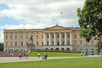 Oslo - The Royal Palace is the home of the Norwegian royal family