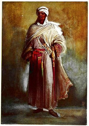 Othello - Othello costume – illustration by Percy Anderson for Costume Fanciful, Historical and Theatrical, 1906