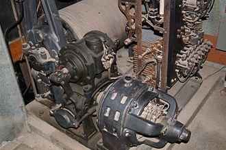 Otis Elevator Company - Otis elevator installation at Winchester Mystery House