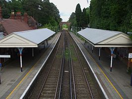 Oxshott station high northbound.JPG