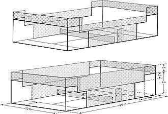 Padel (sport) - Padel court dimensions