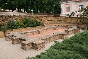 Pécs - Remnants of a Paleochristian Church, 4th century AD.