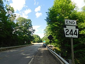 Pennsylvania Route 244 - PA 244 approaching the New York state line in Genesee