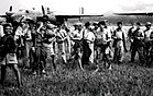 Filipino guerrillas secured airstrips for U.S. planes on Mindanao.