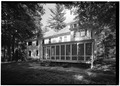 PERSPECTIVE FROM SOUTHWEST - Zane Grey House, West side of Scenic Drive, Lackawaxen, Pike County, PA HABS PA,52-LACK,3-4.tif