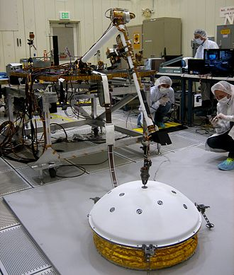 InSight - Testing of the lander's robotic arm that will deploy the seismometer.