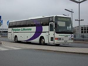 Pohjolan Liikenne - A Scania coach of Pohjolan Liikenne at Helsinki-Vantaa Airport, May 2007.