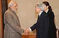 PM Modi meets Akihito, the Emperor of Japan.jpg