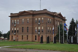 National Register of Historic Places listings in Potter County, South Dakota - Image: POTTER COUNTY COURTHOUSE, GETTYSBURG, SD