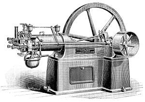 Otto engine - A 1880s era American Otto Engine for Stationary Use
