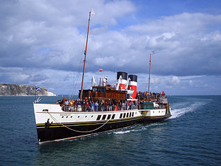 PS <i>Waverley</i> 1946-built preserved seagoing passenger carrying paddle steamer